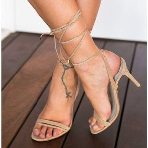 d7e03fbd9e03 Windsor smith nude lace up heels